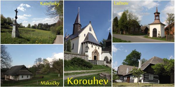 Obec Korouhev - pohlednice